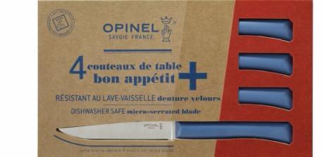 coffret de couteaux de table opinel bon appetit bleu. Black Bedroom Furniture Sets. Home Design Ideas