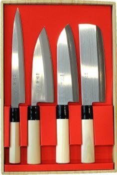 Coffret de 4 couteaux japonais jaku tradition - Coffret couteaux de cuisine ...