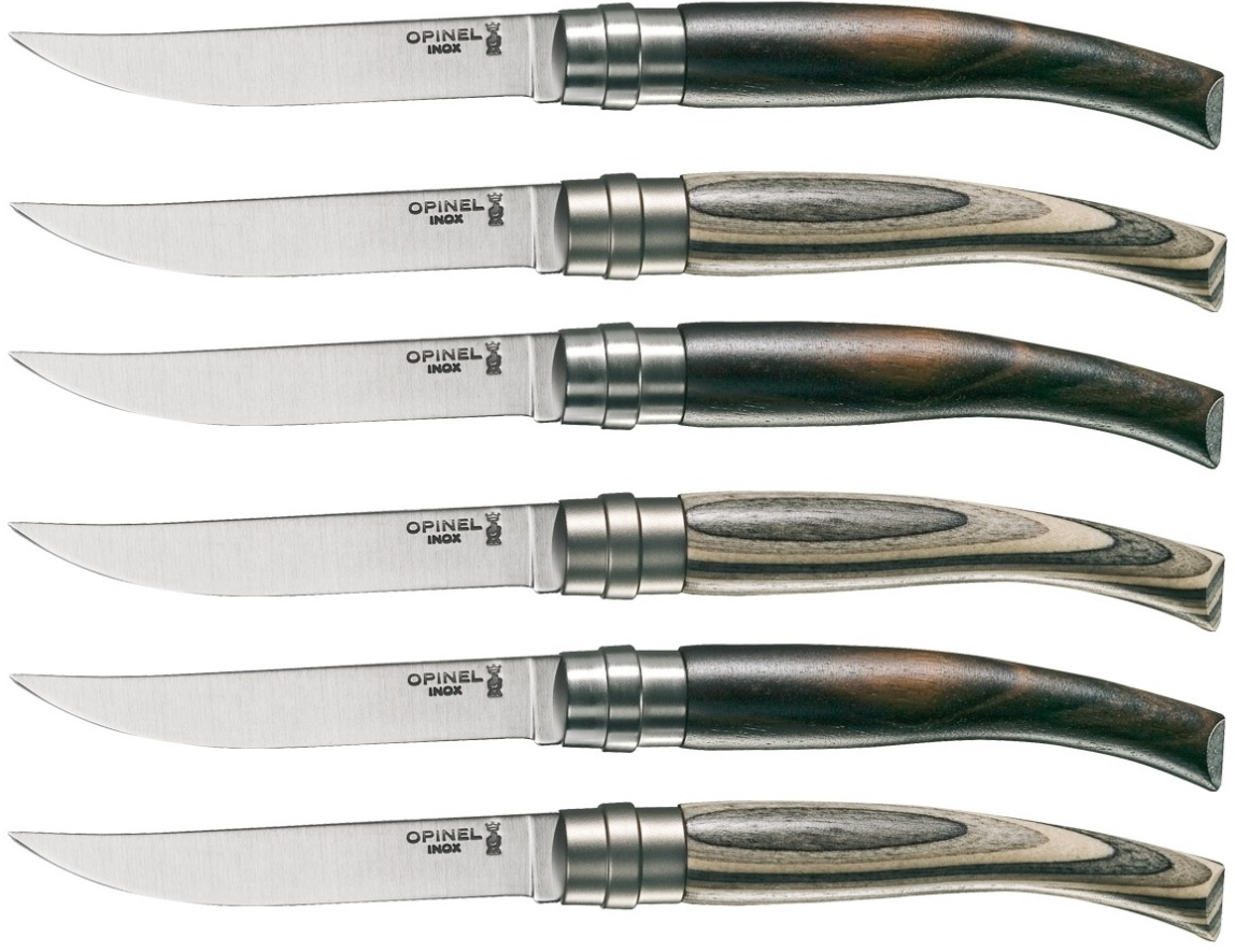 Coffret de couteaux de table opinel for Type de couteau cuisine