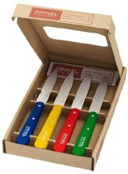 "COFFRET OPINEL DE 4 COUTEAUX D'OFFICES ""COLOR"""